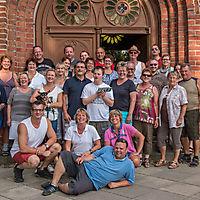 Gruppenbild vor der St. Marien Kirche in Bergen